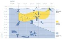 Grafische Darstellung des menschlichen Gehörs